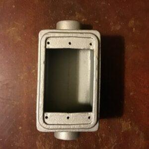 "Appleton FDC-1-75L 3/4"" Malleable Iron Single Gang Cast Device Box"